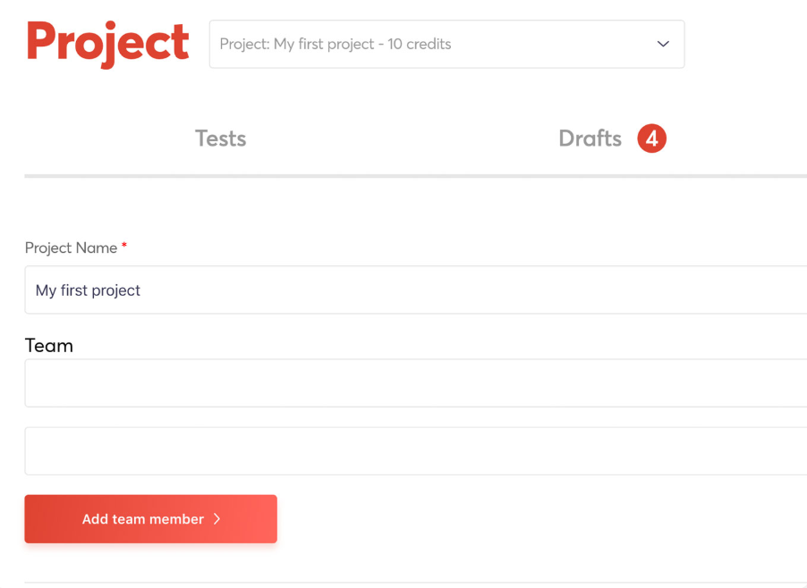 Organize tasks into projects