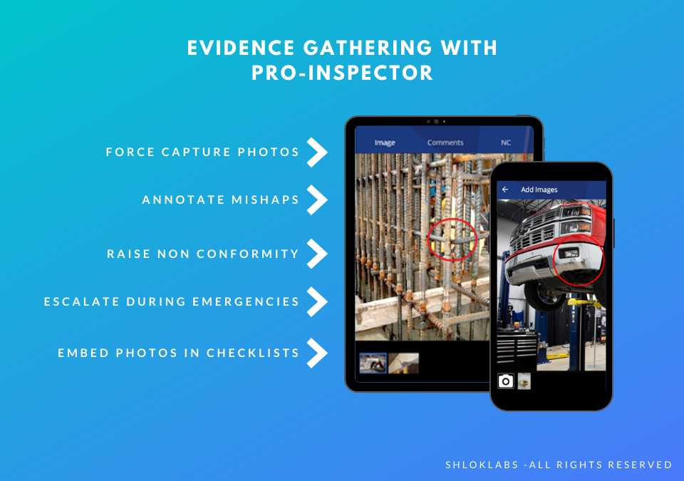 Pro-Inspector Software - Evidence Gathering