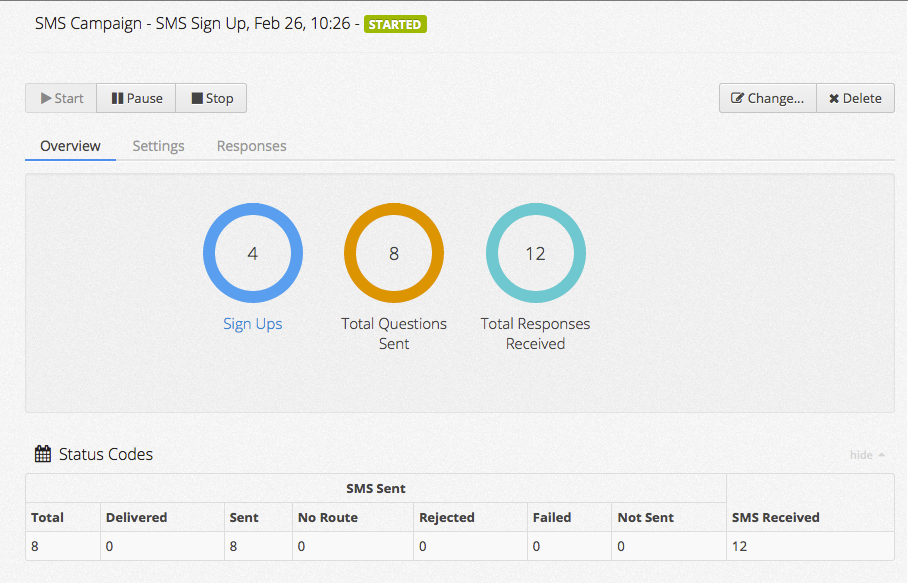 Automatically gather data through SMS signup campaigns