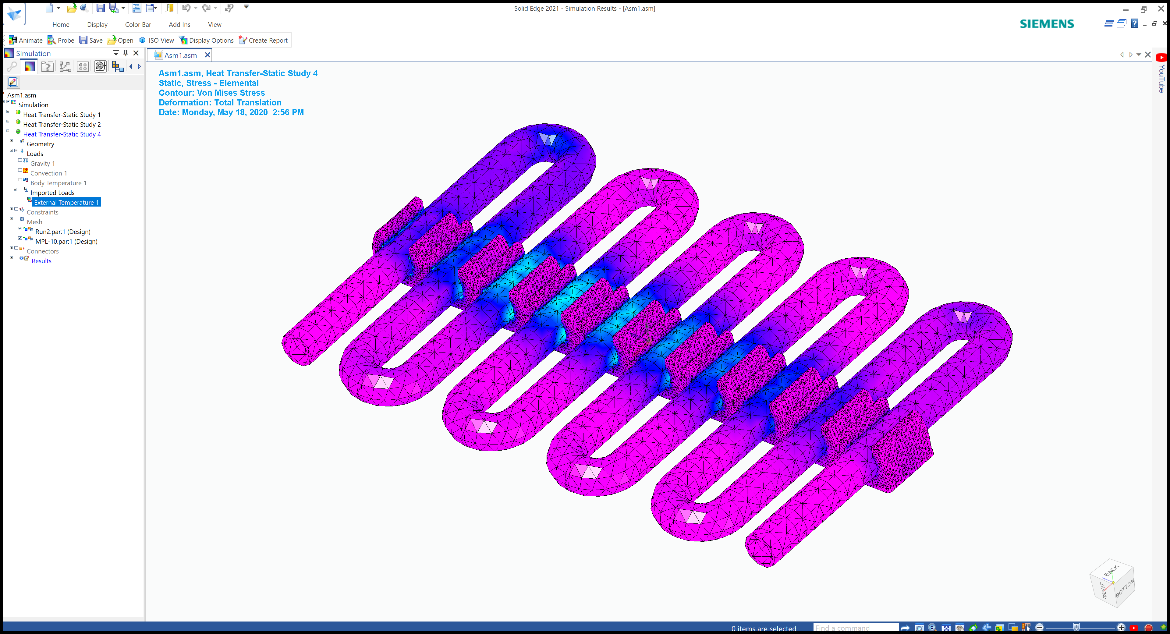 Solid Edge Software - Solid Edge heat transfer simulation
