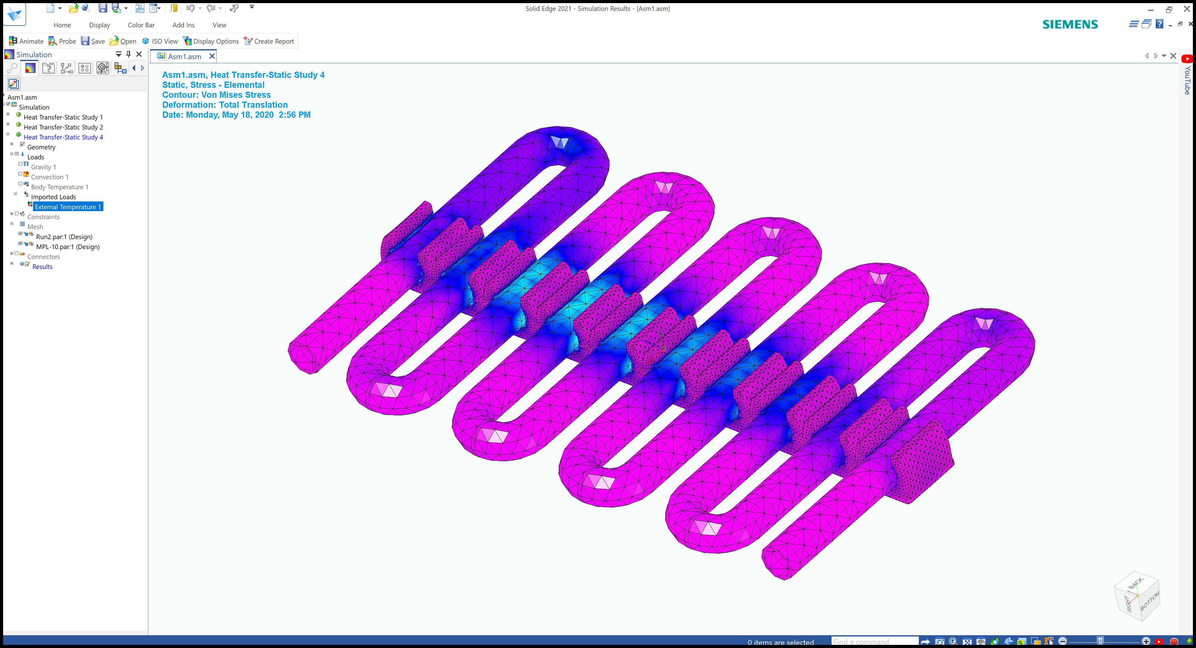 Solid Edge heat transfer simulation