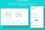 Azendoo screenshot: Track Time spent on teamwork and tasks