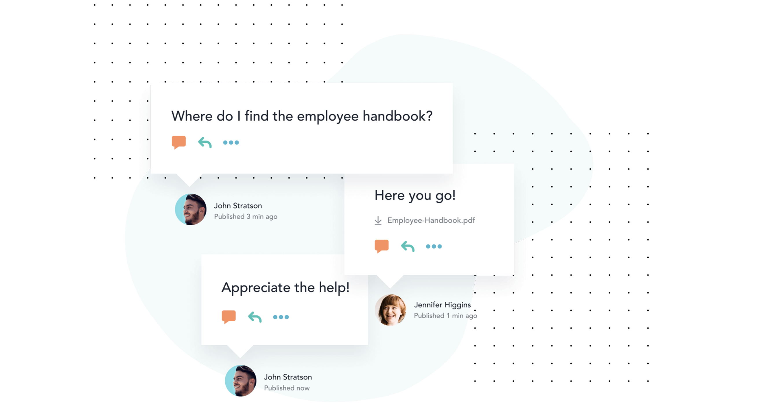 Start typing a question and Bloomfire's Q&A engine will show you if it's already been asked and answered. If you can't find the information you need, post a new question and crowdsource responses from experts.