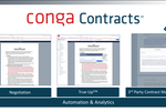 Conga Contracts screenshot: Generate, distribute, and negotiate professional looking contracts such as MSA's and NDA's from the Salesforce platform.
