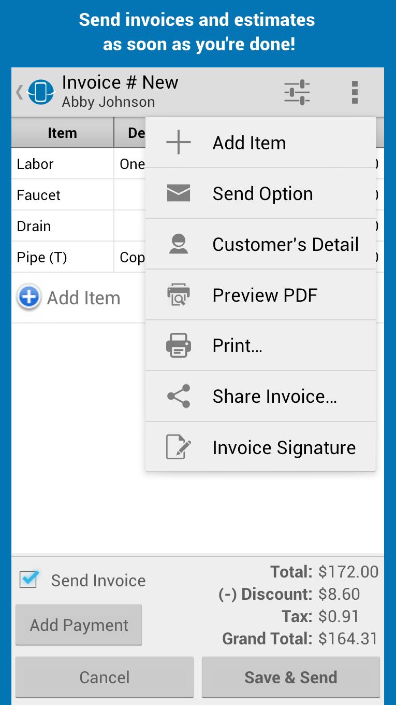 Street Invoice screenshot