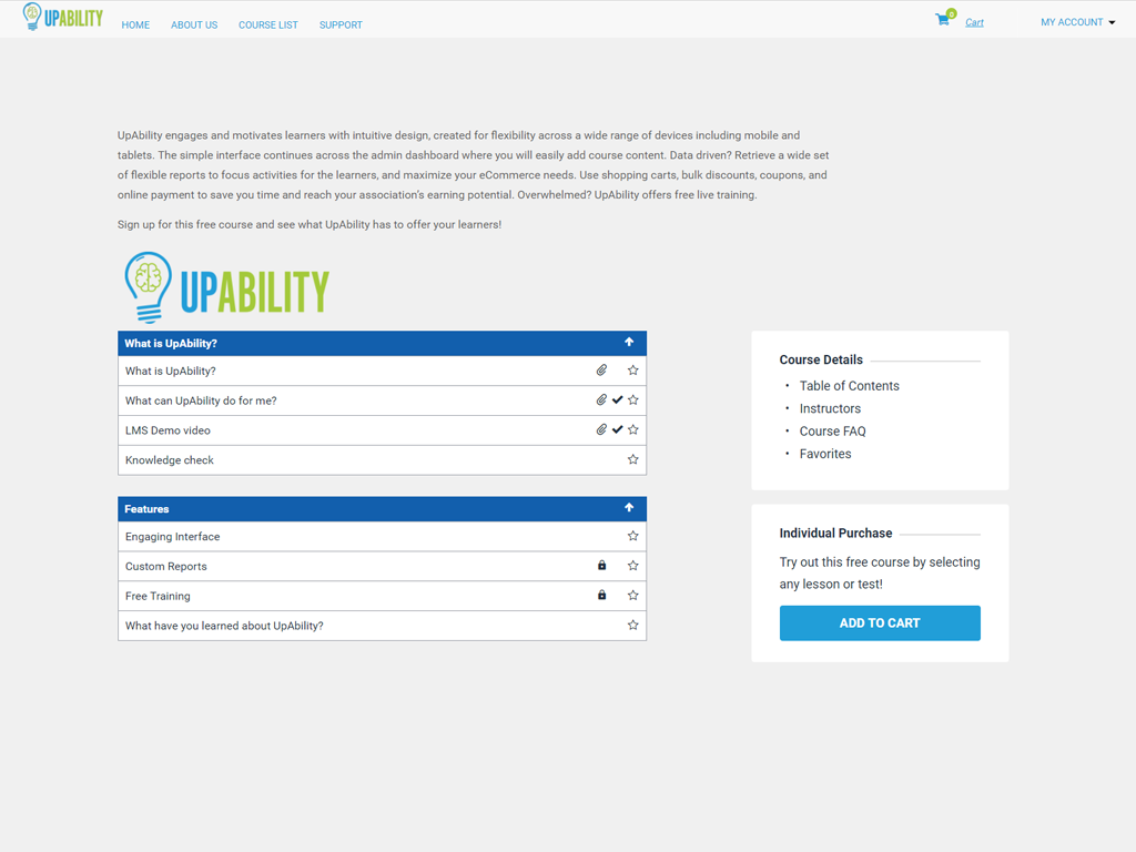 UpAbility Software - Content authoring