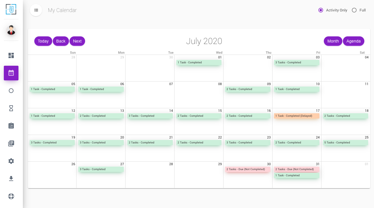 OptaPlan calendar view