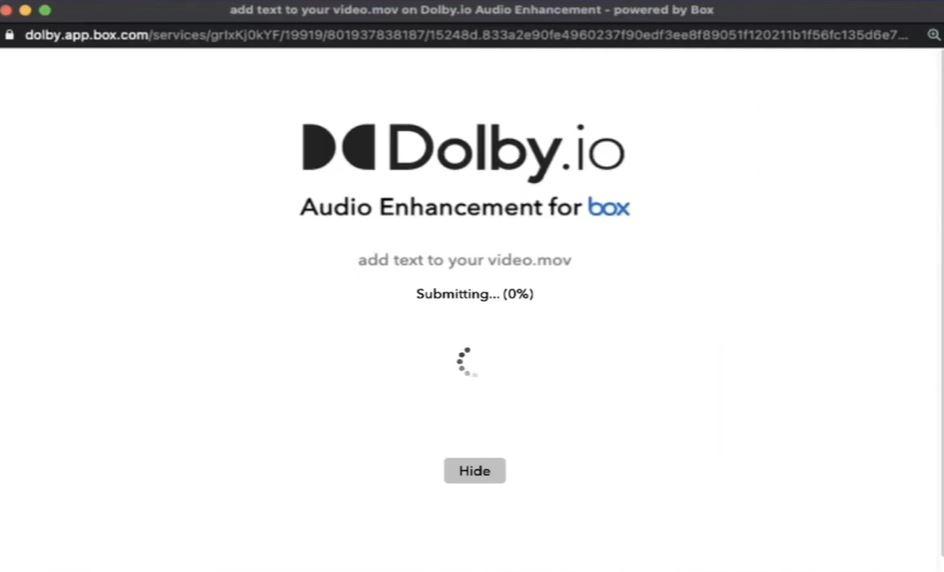 Dolby.io audio enhancement