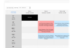 OpenWater screenshot: Build schedules and see speaker conflicts right away