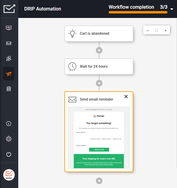 DRIP email automation for your e-commerce: Abandoned cart reminder emails. Welcome emails. Birthday greetings. Order confirmation emails. And much more!