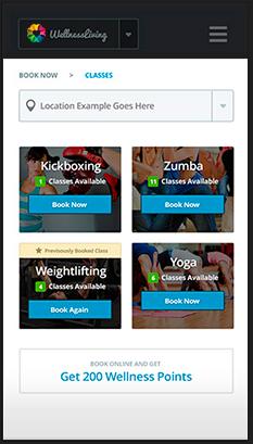 WellnessLiving Software - Student mobile app