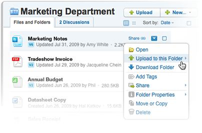 Upload or download files and folders, then add tags for simple organization