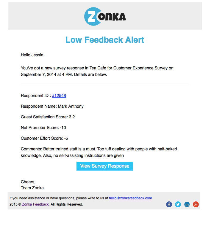 Real-time email alerts
