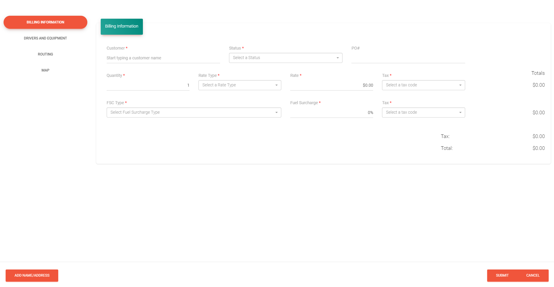 Creating a load has never been simpler - just enter the billing info, drivers assigned to the load and your routing info which is then automatically generated on a map for a visual of the load route.