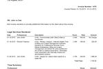 TimeSolv Legal Billing screenshot: TimeSolv Legal Billing invoice