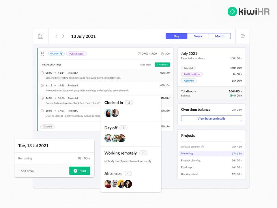 kiwiHR Software - 3