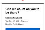 Capture d'écran pour Mobilize : Mobilize email reminders