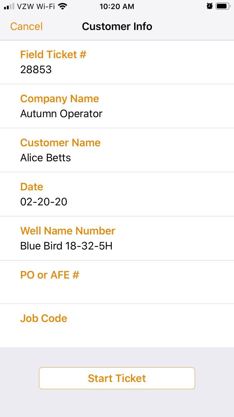 Oil command mobile customer info