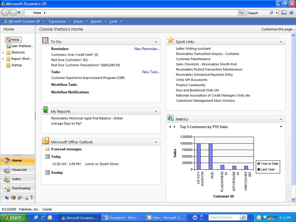 Microsoft Dynamics GP Software - Home