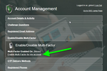 PortalGuard screenshot: PortalGuard Account Management - Two-Factor Authentication (2FA) Opt-in
