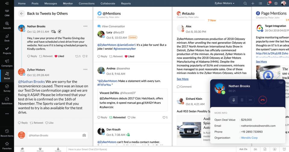 Zoho CRM Plus Software - Customer experience platf