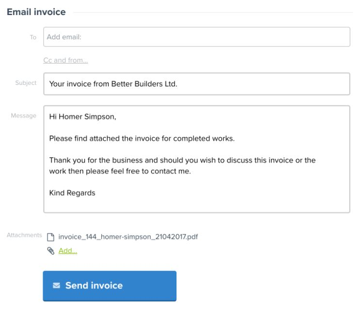 YourTradeBase email invoices