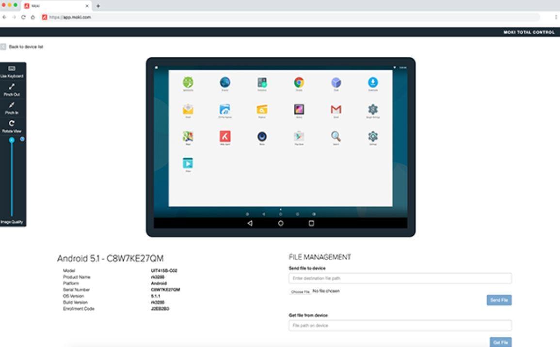 Moki Total Control Software - 1