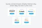 A2X screenshot: One click connect into your favourite ecommerce platforms