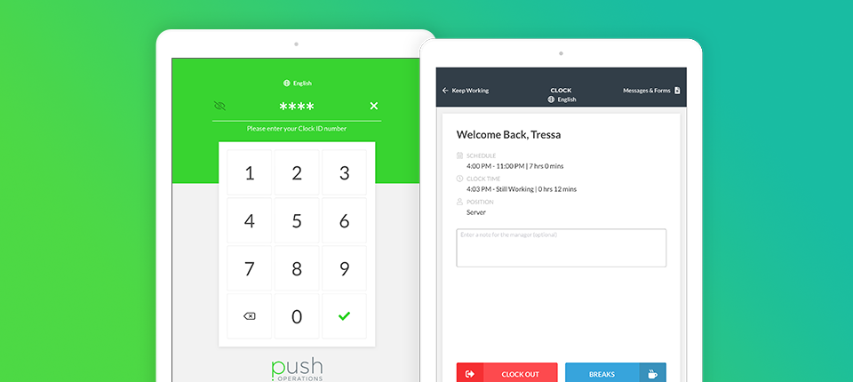 Push Operations Software - Push Operations tablets