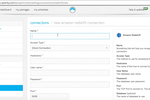 Xplenty screenshot: Enter details for new data connections