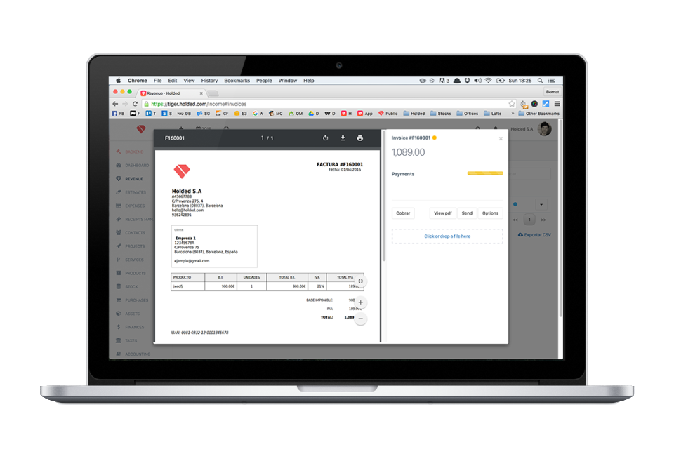 Create invoices and estimates within minutes, and take control of expirations