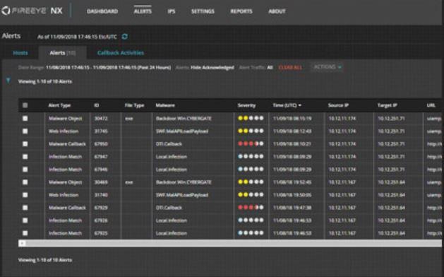 FireEye Network Security alerts