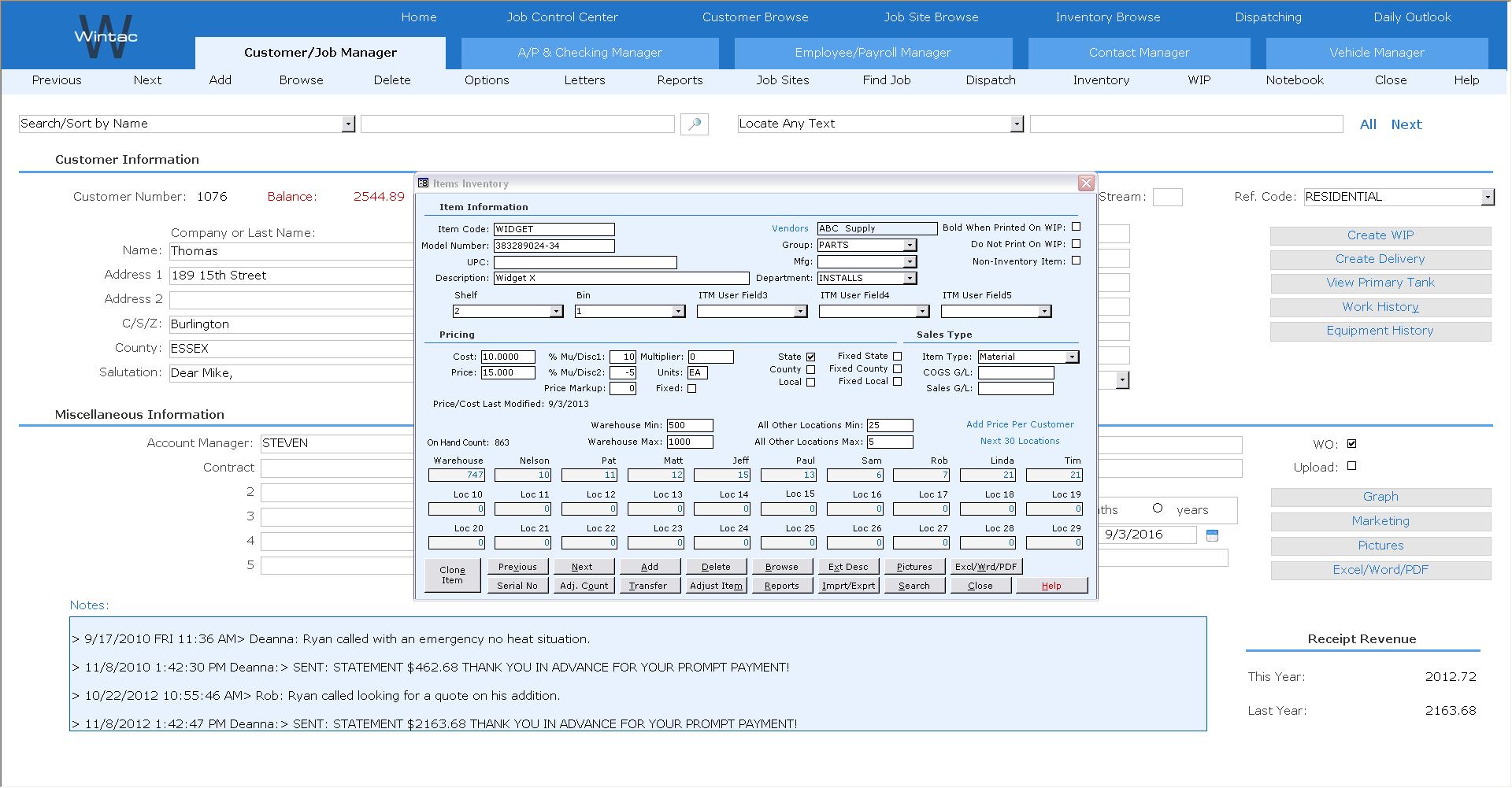 Wintac Software - 3