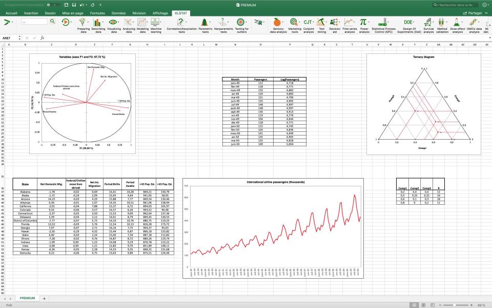 XLSTAT Excel integration