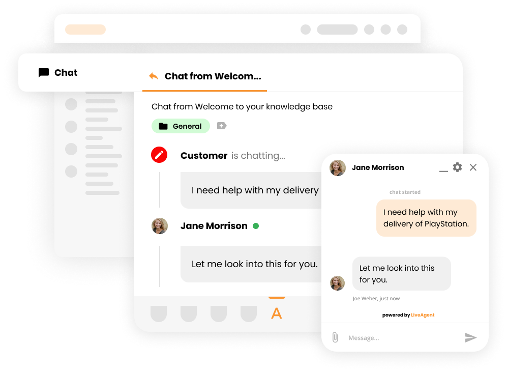 LiveAgent real time chat