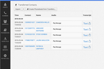CallHub screenshot: Instant recordings and transcripts