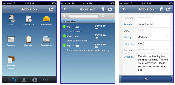 Axxerion Software - Mobile Device Support