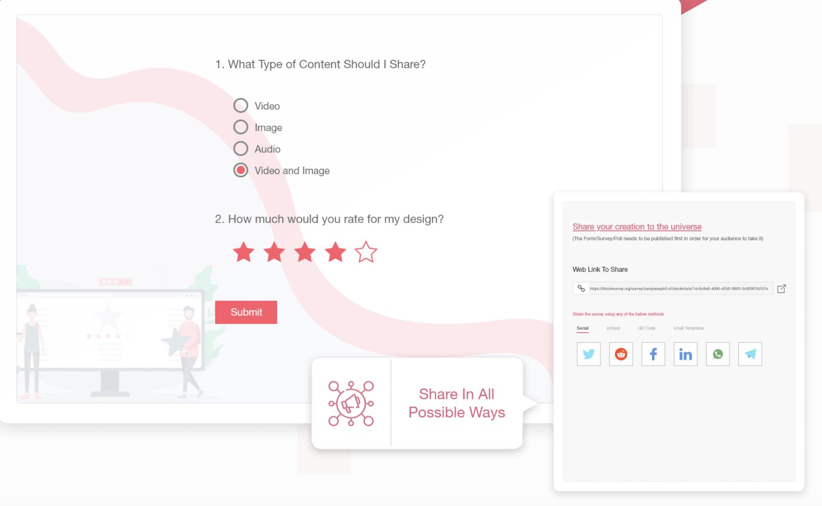 Block Survey share content