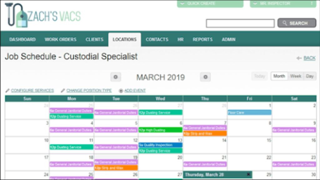 CleanTelligent job schedules