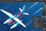 Captura de pantalla de Affinity Designer: Affinity Designer isometric