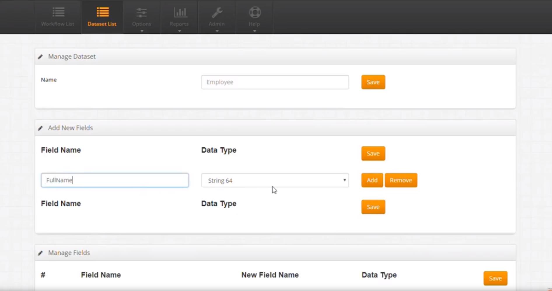 OptimumHQ create new dataset