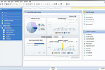 Captura de tela do SAP Business One: The finance cockpit provides users with access to financial metrics