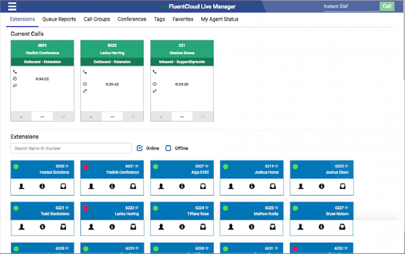 FluentStream Software - Call monitoring