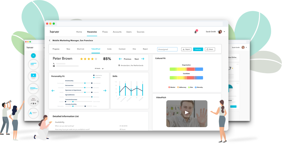 Harver product header screenshot