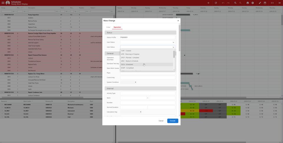 Prometheus Platform mass change scheduler