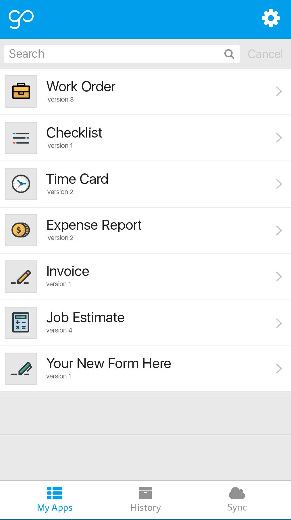 GoCanvas Software - GoCanvas app dashboard