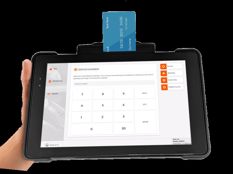 Maitre'D Software - Maitre'D POS credit card processing screenshot
