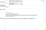 Contactually screenshot: Work directly from gmail with our seamless integration. We also integrate with Outlook.