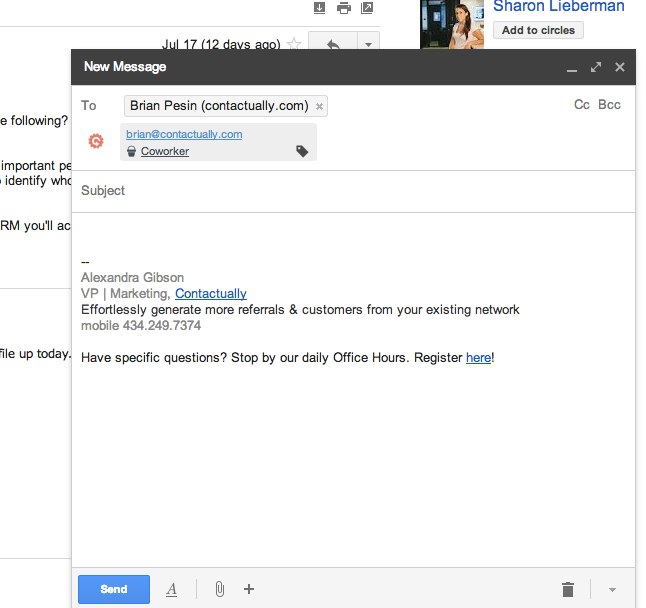 Work directly from gmail with our seamless integration. We also integrate with Outlook.