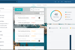 Taskworld screenshot: Taskworld's analytics dashboard gives users an overview of project progress